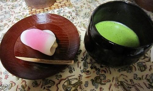 花びら餅・抹茶(お薄)
