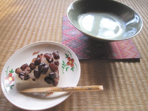 L水無月と抹茶